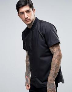 Приталенная бейсбольная рубашка Rogues Of London - Черный