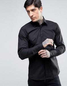 Облегающая эластичная рубашка Rogues Of London - Черный