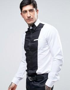 Рубашка скинни со вставками Rogues Of London - Белый