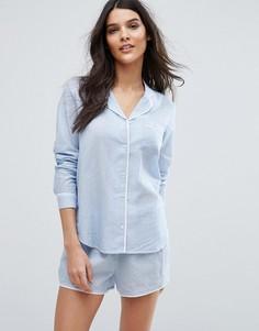 Пижамная рубашка с длинными рукавами Y.A.S - Синий