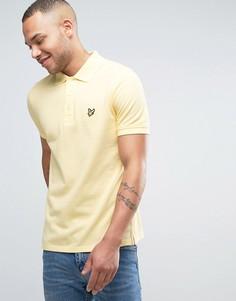 Желтое поло классического кроя из пике с логотипом-орлом Lyle & Scott - Желтый