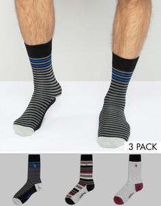 Набор из 3 пар носков в полоску Original Penguin - Мульти