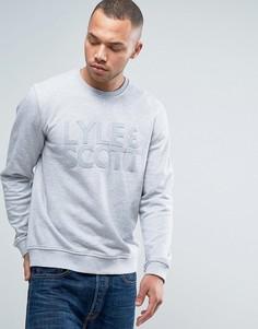 Серый свитшот с круглым вырезом и логотипом-аппликацией Lyle & Scott - Серый