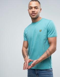 Зеленая меланжевая футболка классического кроя с логотипом-орлом Lyle & Scott - Зеленый