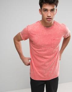 Футболка с эффектом кислотной стирки Threadbare - Розовый