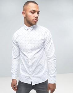 Рубашка с принтом Jack & Jones - Белый