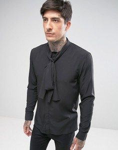 Узкая рубашка с бантом Religion - Черный