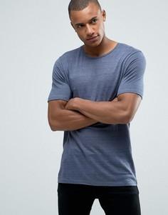 Длинная льняная футболка-премиум Jack & Jones - Синий