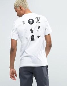 Футболка с принтом на спине Billionaire Boys Club - Белый