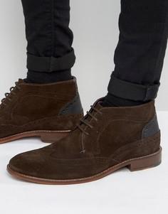 Коричневые замшевые ботинки броги Ted Baker Pericop 2 - Коричневый