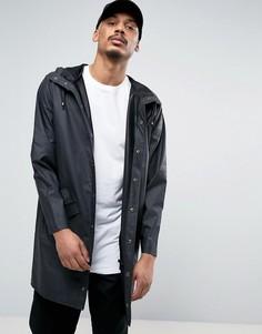 Черная непромокаемая куртка с капюшоном Rains - Черный