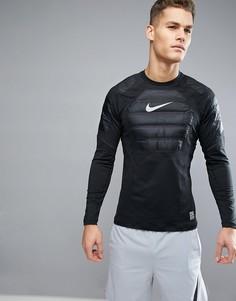 Черный свитшот Nike Training Aeroloft 802037-010 - Серебряный