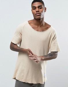 Свободная футболка из вафельного трикотажа Criminal Damage - Бежевый