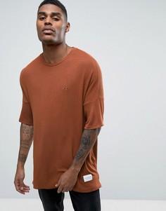 Свободная трикотажная футболка Criminal Damage - Коричневый