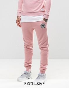 Зауженные спортивные брюки с логотипом Hype - Розовый
