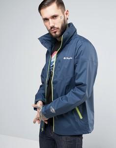 Темно-синяя водонепроницаемая куртка с капюшоном Columbia Inner Limits - Темно-синий