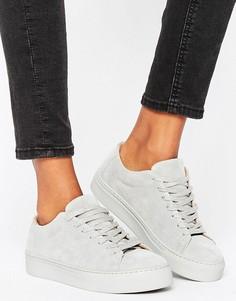Замшевые кроссовки Selected Femme Donna - Серый