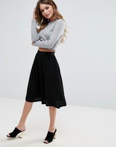Расклешенная юбка миди Minimum - Черный