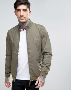 Узкая куртка Харрингтон цвета зеленого хаки Pretty Green Dalton - Зеленый