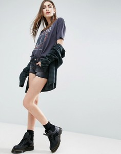 Черные джинсовые шорты с заниженной талией ASOS - Черный