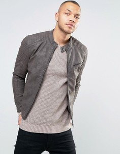 Байкерская куртка из кожзаменителя Esprit - Коричневый
