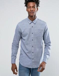 Рубашка стандартного кроя из тканого жаккарда Selected Homme - Синий