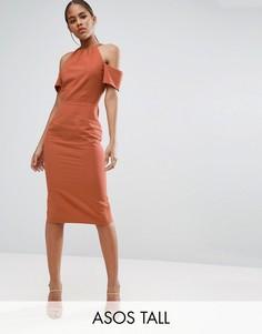 Платье-футляр из натурального волокна ASOS TALL - Красный