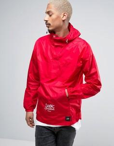 Красная куртка-дождевик через голову с капюшоном Sixth June - Красный