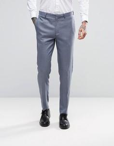 Серые фактурные брюки скинни ASOS WEDDING - Серый