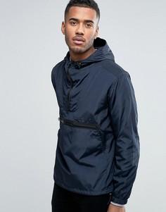 Темно-синяя куртка через голову с капюшоном ASOS - Темно-синий