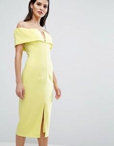 Платье-футляр с открытыми плечами The 8th Sign - Желтый