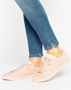 Розовые кроссовки из нубука Le Coq Sportif Charline - Розовый
