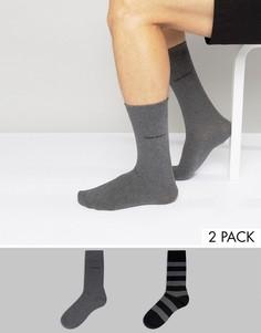 2 пары носков в полоску BOSS Black By Hugo Boss - Серый