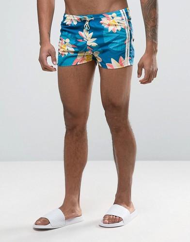 Короткие шорты для плавания с полосками Oiler & Boiler Tuckernuck - Синий