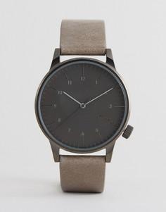 Часы с бежевым кожаным ремешком Komono Winston Regal - Бежевый