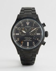 Черные часы с хронографом Timex Heritage Waterbury - Черный