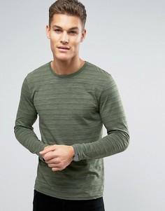 Лонгслив с тонкую полоску Esprit - Зеленый