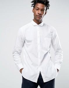 Белая поплиновая рубашка слим BOSS Orange by Hugo Boss - Белый