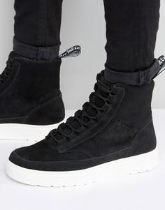 Высокие замшевые кроссовки Dr Martens Kamar - Черный