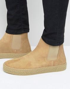 Замшевые ботинки челси песочного цвета ASOS - Stone