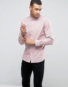 Узкая фактурная рубашка Selected Homme - Розовый