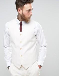 Кремовый приталенный жилет Devils Advocate Wedding - Кремовый