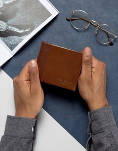 Кожаный бумажник с контрастной отделкой Ted Baker - Коричневый