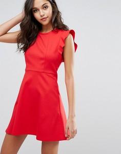 Платье мини с рюшами BCBG Generation - Красный