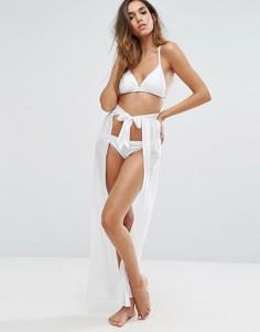 Пляжная юбка на поясе спереди Boohoo - Белый