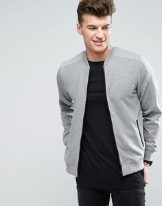 Куртка в рубчик на молнии Threadbare - Серый
