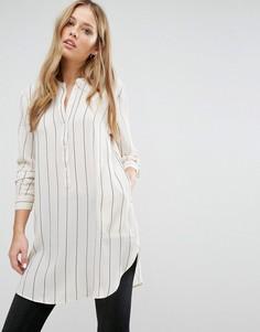 Полосатая туника с карманами JDY - Серый