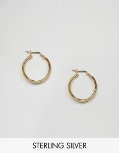 Серьги-кольца 20 мм из позолоченного серебра ASOS - Золотой