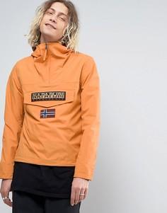 Оранжевая нейлоновая куртка с капюшоном Napapijri Rainforest - Оранжевый