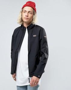Черная нейлоновая куртка на молнии Napapijri Shelter - Черный
